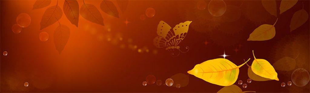 Падающие листья бабочка