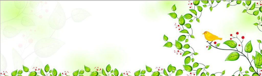 листья и птица