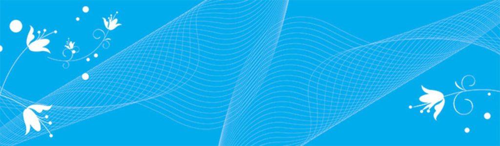узоры на голубом фоне