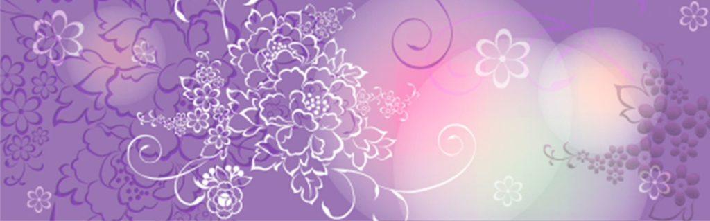 Белые цветы на сиреневом фоне