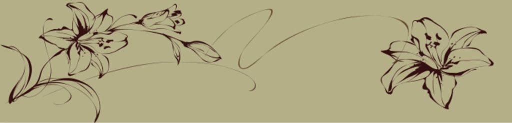 Лилии на сером фоне
