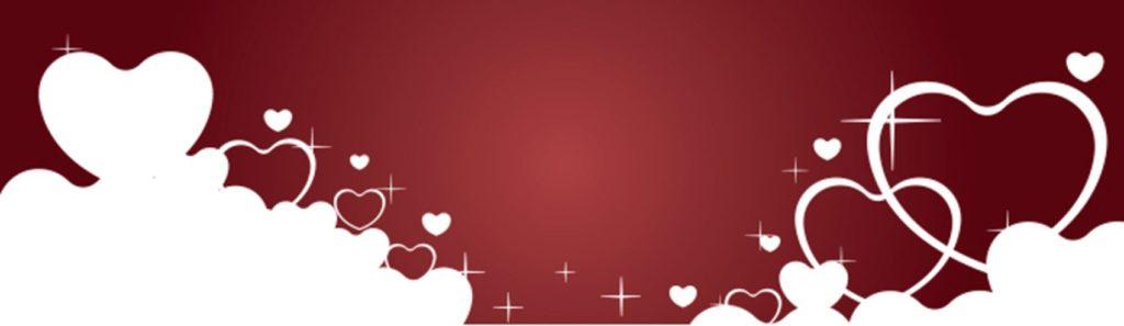 Белые сердечки на красном фоне