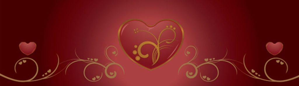 Сердце на красном фоне