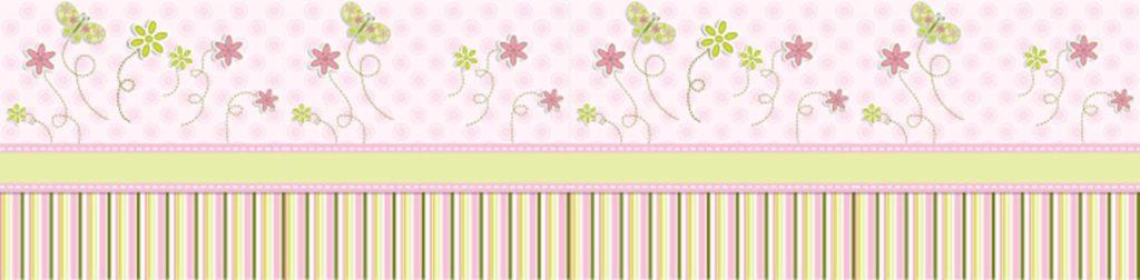 Розовые бабочки цветы полосы
