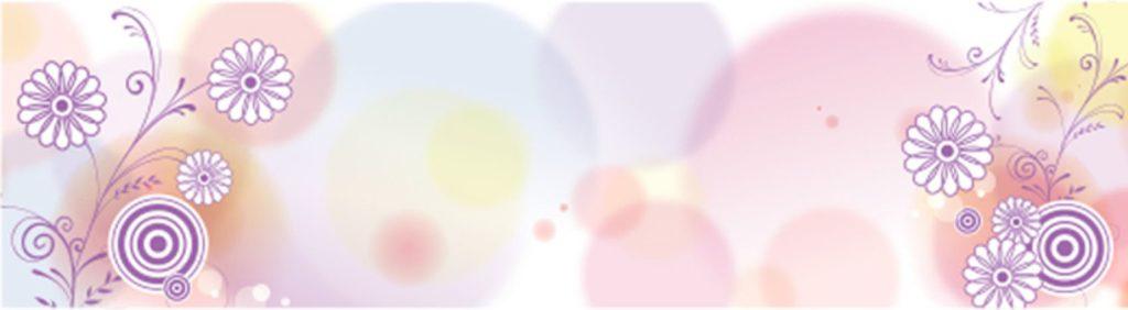 Белые цветы на цветном фоне