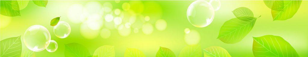 Зеленые листья блики пузырьки