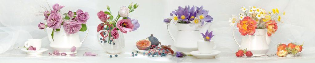Натюрморт с четырьмя вазами