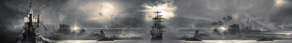 Ночь,замок,корабль