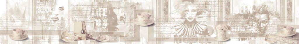 Арт с чашками и цветами