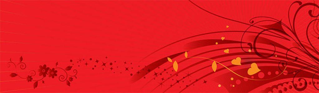 цветочный орнамент на красном