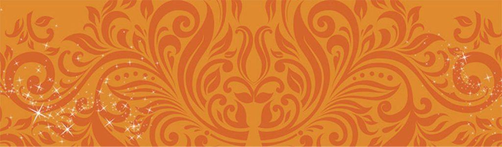 оранжевые узоры