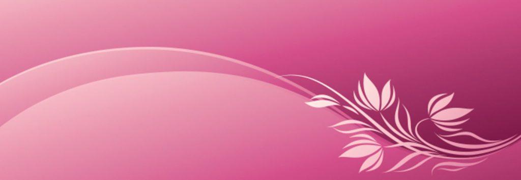 Растительный орнамент на розовом фоне