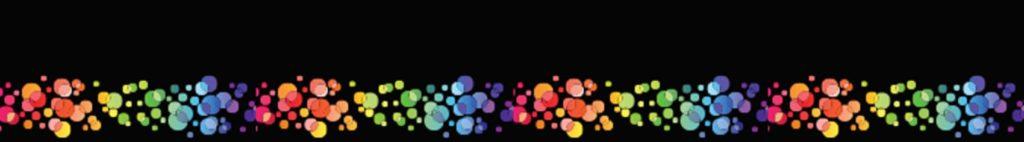 Цветные круги на черном фоне