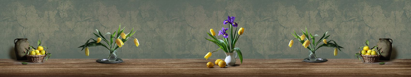 Тюльпаны и ирис