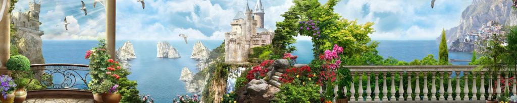 Сказочный замок панорама