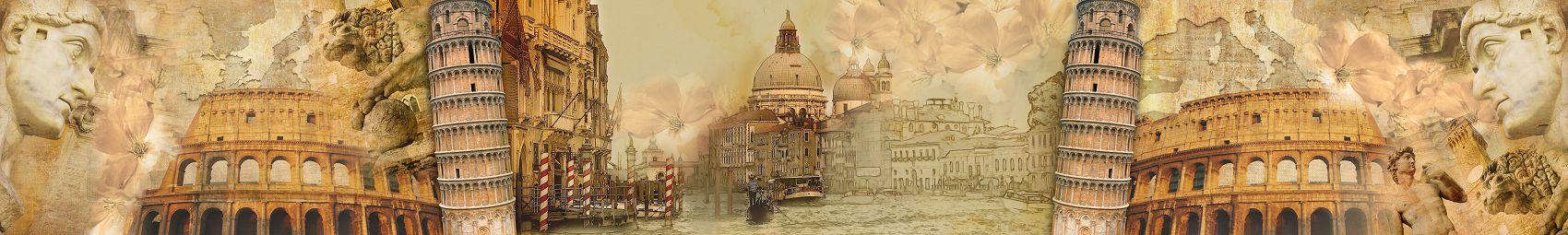 Скинали для кухни Венеция Рим