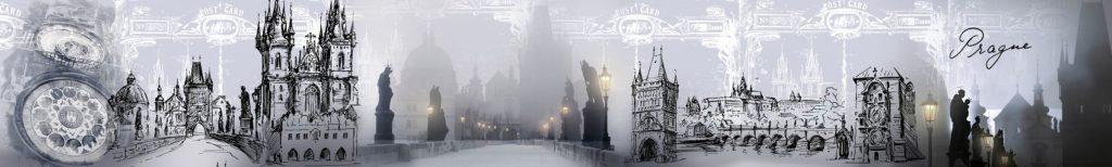 Карлов мост в тумане скинали