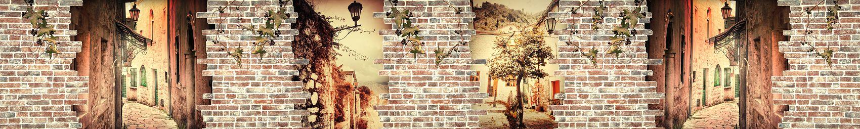 Скинали старая кирпичная стена