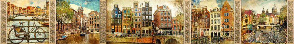 Улочки Амстердама рисунок