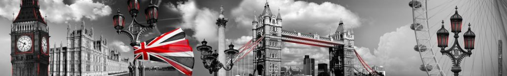 Черно-белый Лондон в коллаже