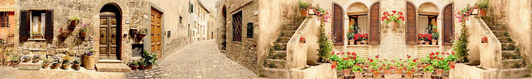Улочки старого города панорама