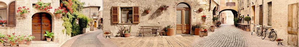 Кухонный фартук итальянской улочки