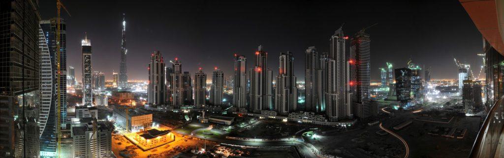 Панорама Дубая ночью