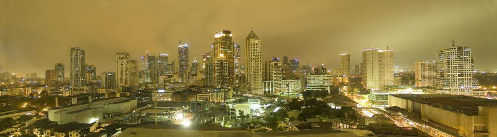 Панорама города в Филиппинах