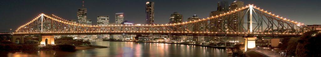 Бруклинский мост ночью панорама