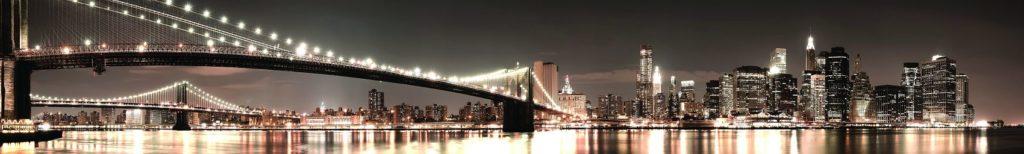 Бруклинский мост в Нью-Йорке ночью