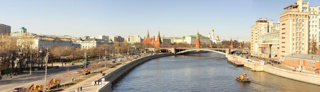 Москва река днём