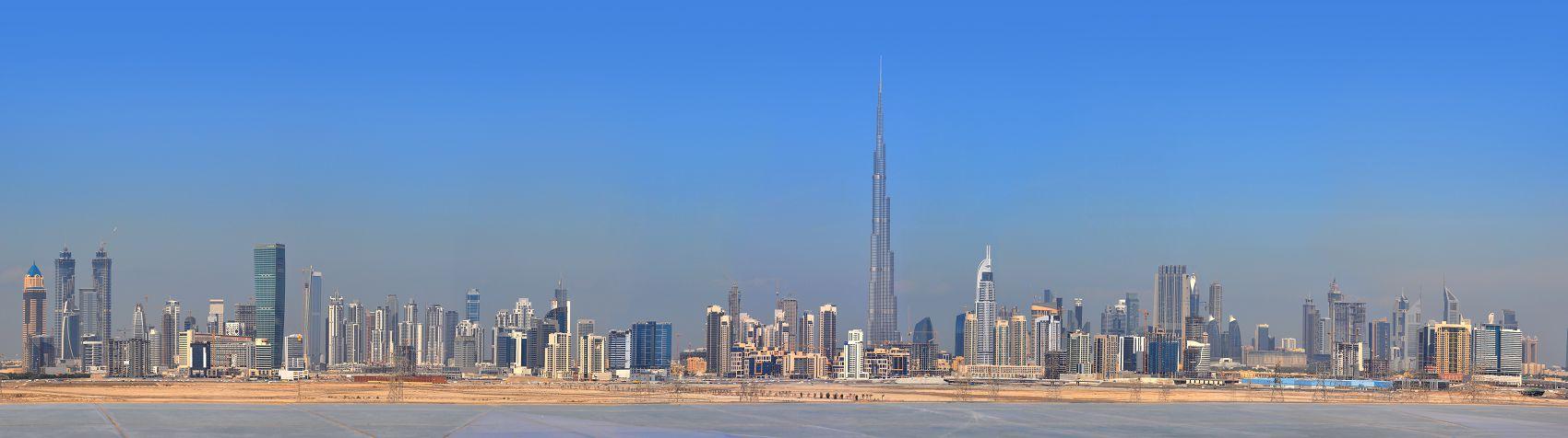 Небоскрёбы в Дубае панорама