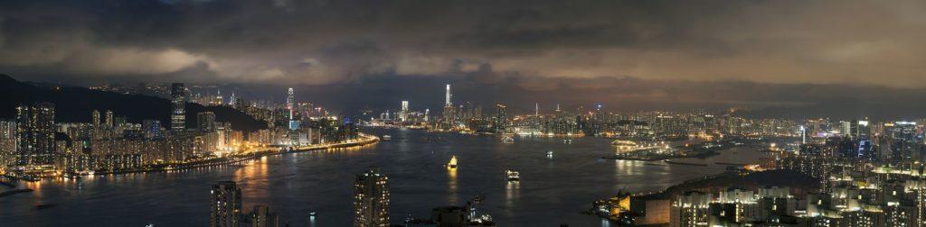Район в Китае ночью
