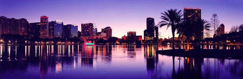 Панорама Орландо ночью