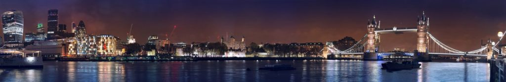 Панорама Стокгольма ночью