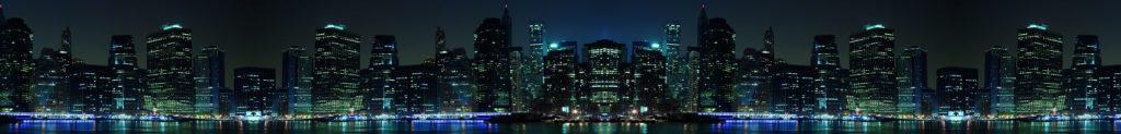 Нью-Йорк ночью панорама