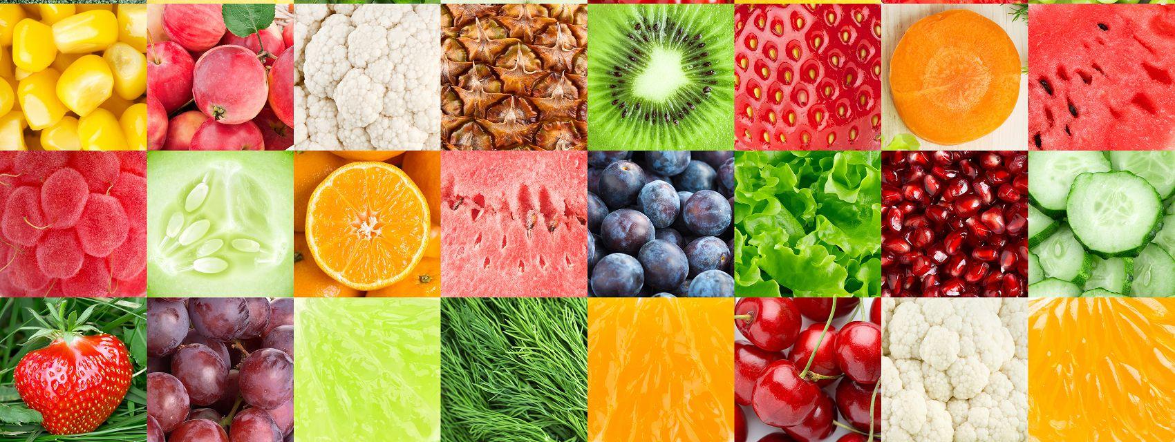 Фрукты и овощи коллаж