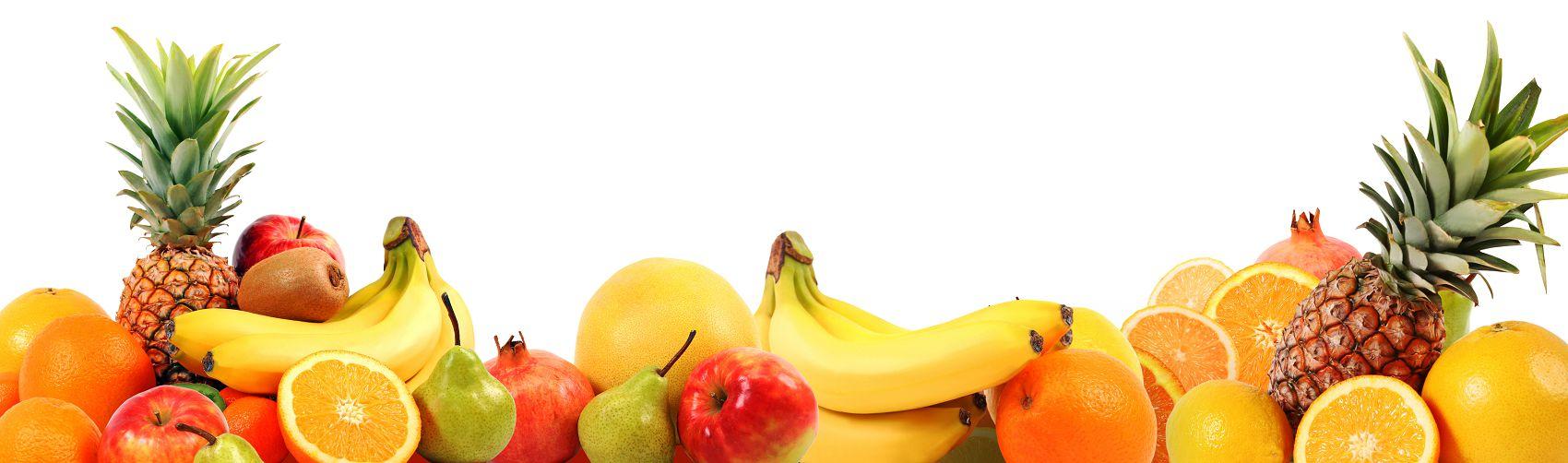Фартук для кухни с фруктами на белом фоне