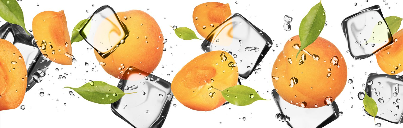 Фартук для кухни фрукты и лёд