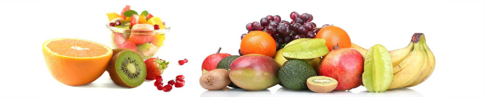 Экзотические фрукты на белом фоне