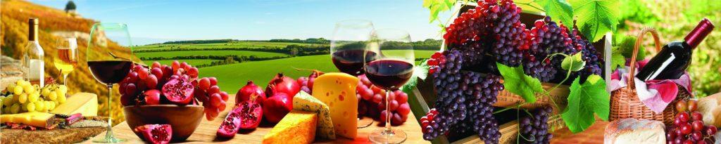 Сыр с вином и фрукты