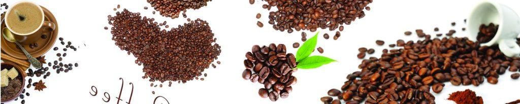 Кофейные зерна на белом фоне