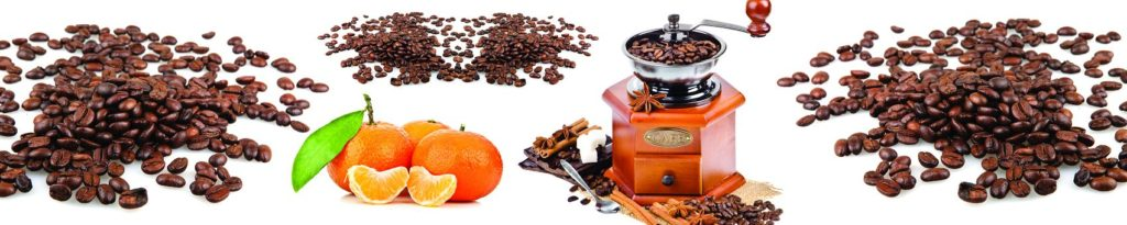 Кофемолка с зернами кофе
