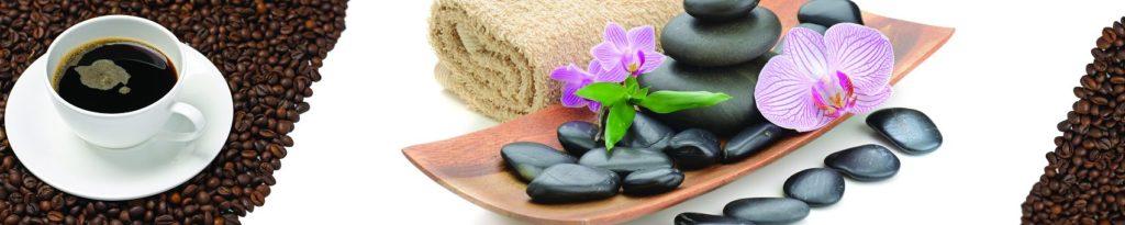 Камни для массажа и кофе