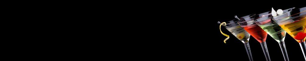 Коктейли на чёрном фоне