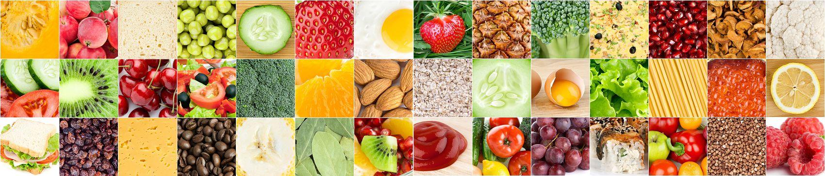 Коллаж овощи и фрукты