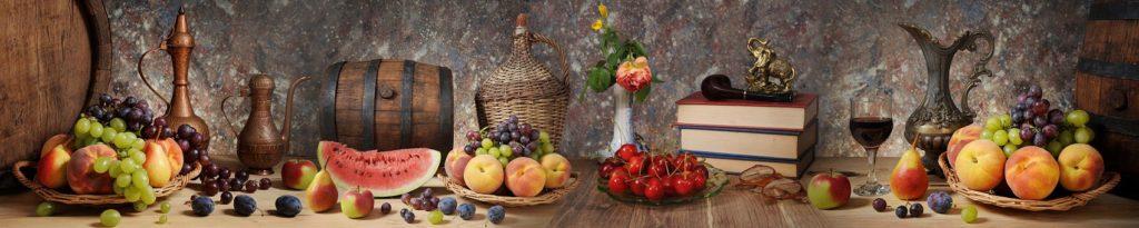 Скинали для кухни фрукты натюрморты