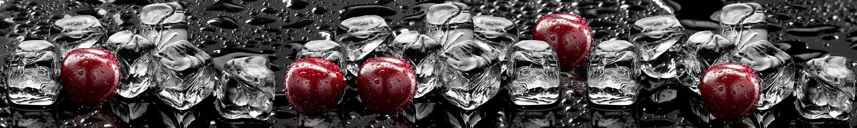 Фартук для кухни вишня со льдом