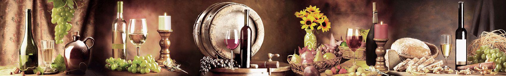 Скинали натюрморт с вином и свечами