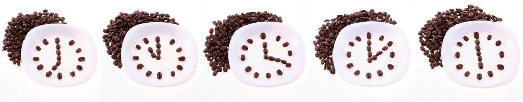 Кофейные зёрна на тарелке